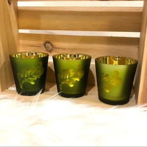 Tealight leaf candle holders